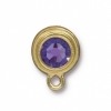 Earring Post Gold Tanzanite SS34 Sw F/b